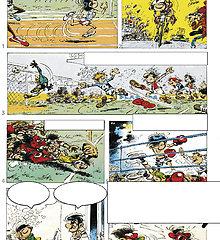 Exploitation d'une planche de bande dessinée (de BD) de Gaston Lagaffe (FRANQUIN)